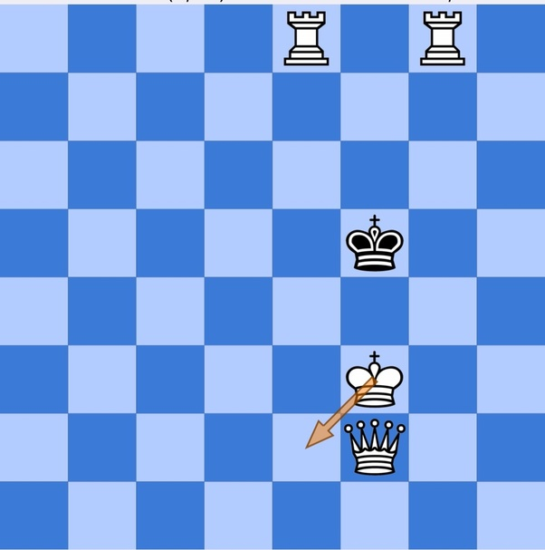 Is there an instance where a king is mated by another king in a