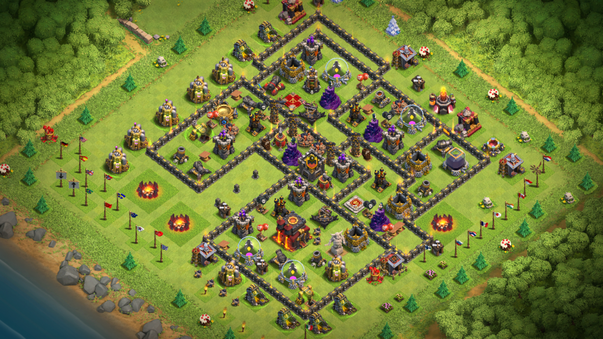 How To Get A Nice Base For Town Hall 10 Without Inferno Quora