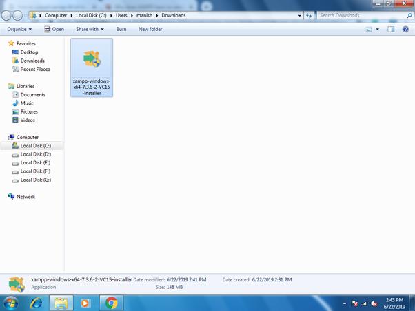 download xampp for windows 7 64 bit