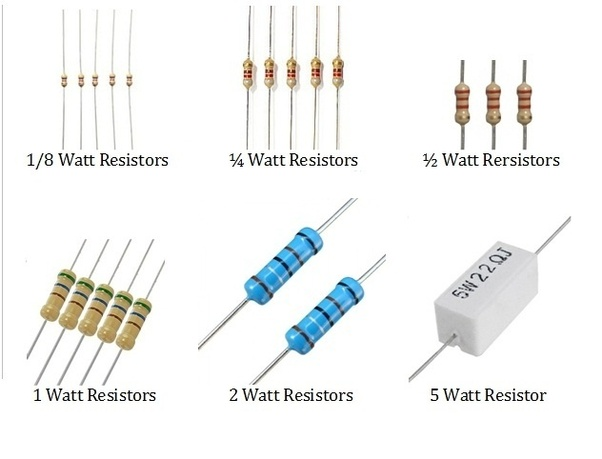 How Is The Resistor Wattage Rating Related To Its Size
