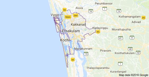 kochi, kerala, india: what is difference between kochi and ernakulam