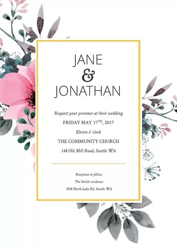 How to custom make my online wedding invitation Quora