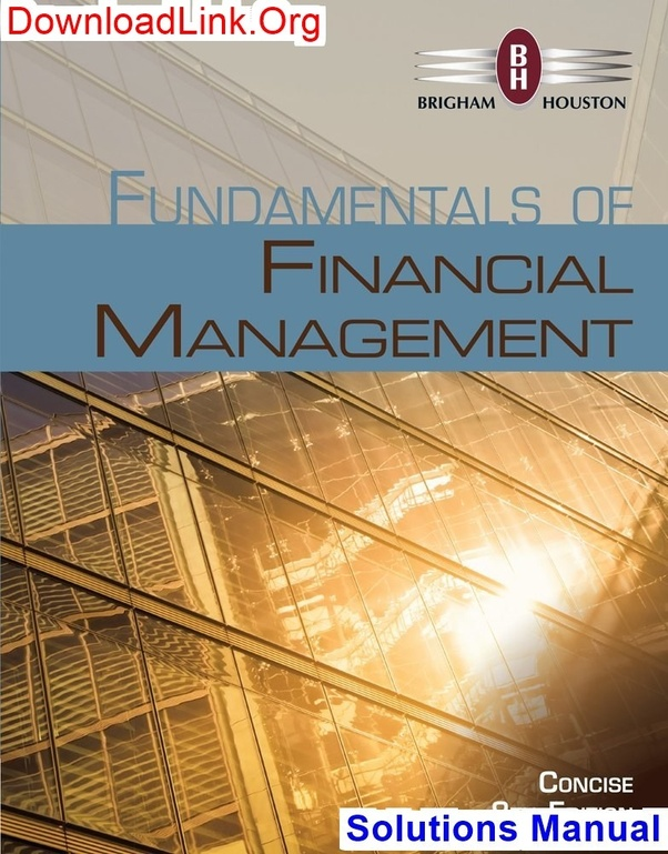 Fundamentals of financial management concise edition 9th edition.