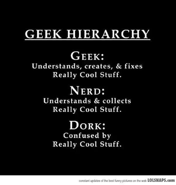 Whats The Difference Between Nerd Geek And Dork Quora