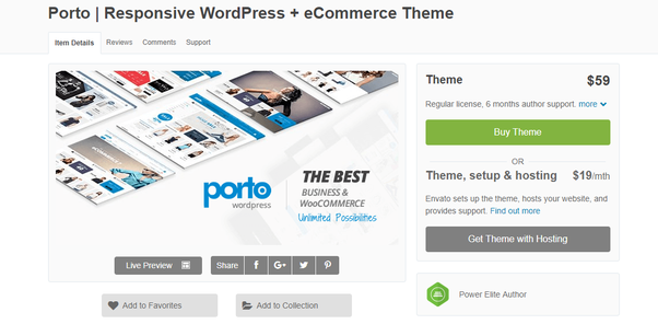 How many themes are available for a WordPress e-commerce