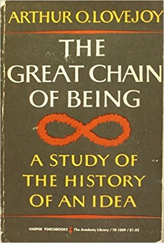 One Book Worth Considering Is The Great Chain Of Being By Arthur O Lovejoy