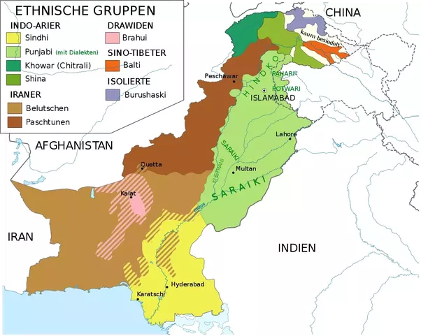 How Many Languages Are There In Pakistan Quora - Pakistan language map