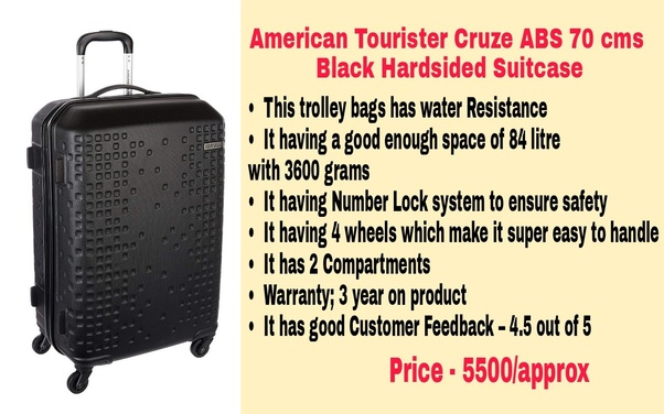 What is the best luggage brand available in India for international ... 4e71d876fe71f