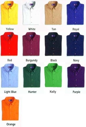 Essential dress shirt colors