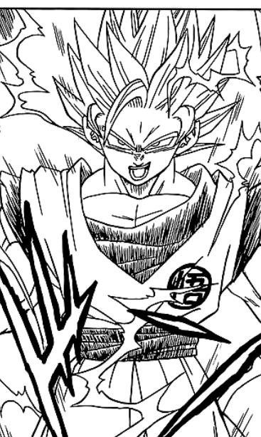 Goku Face Black Logo