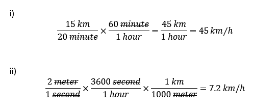 A car travels at a speed of 15 km in 20 minutes  What is the