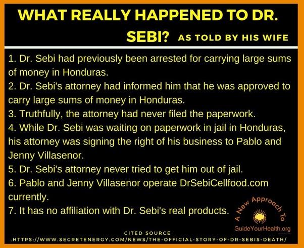 How did Dr  Sebi die? - Quora