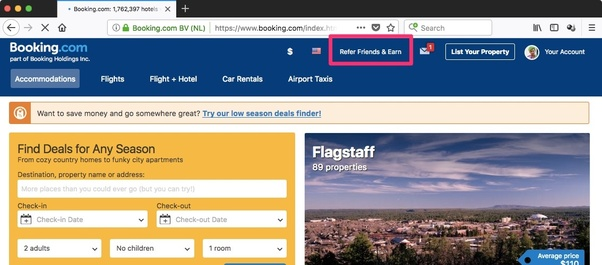 Where can I find my 'refer a friend' link on booking com? - Quora