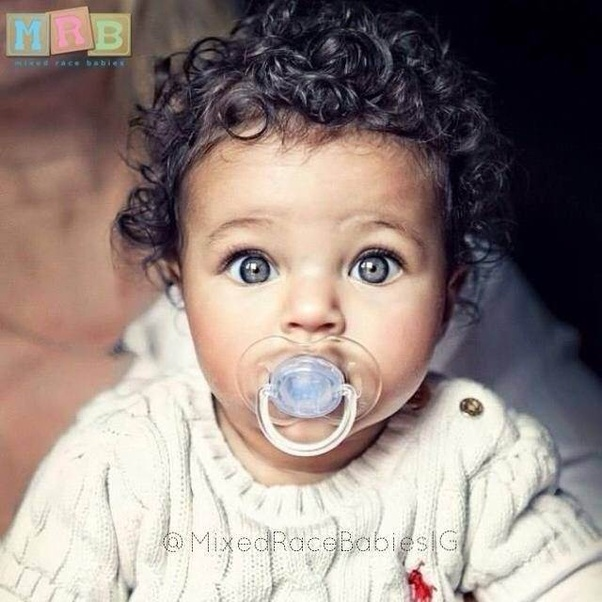 Why are Biracial kids cute? - Quora Cute Mixed Baby Boy With Blue Eyes