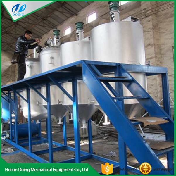 I want to start a small scale rice bran oil refinery in