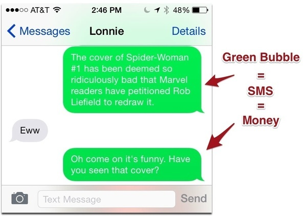 can you forward text messages to another iphone if my imessage goes from blue to green does that i m 8627