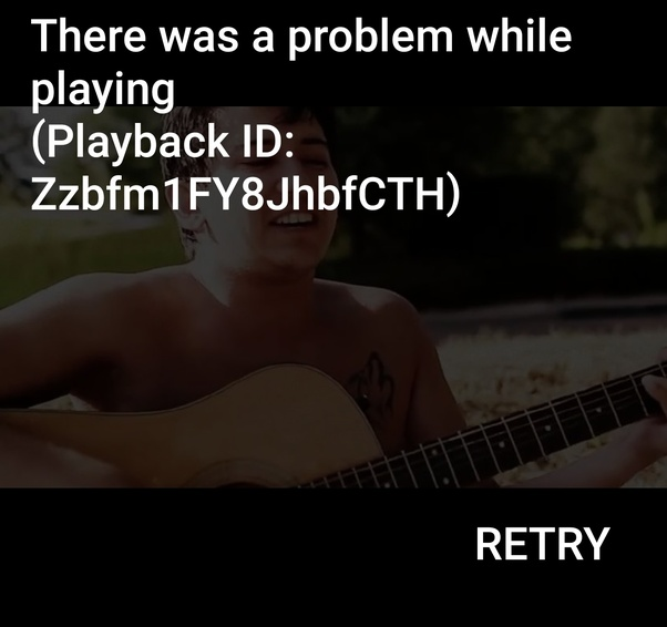 What is wrong with YouTube app 'There was a problem while