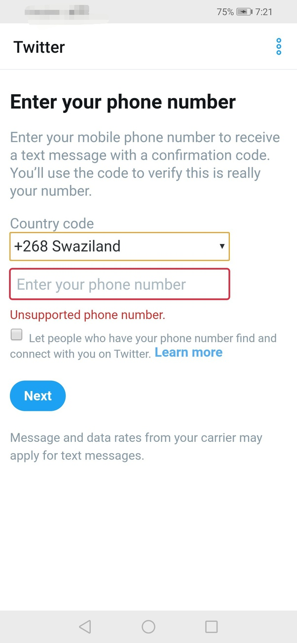 How to create a Twitter account without phone verification - Quora