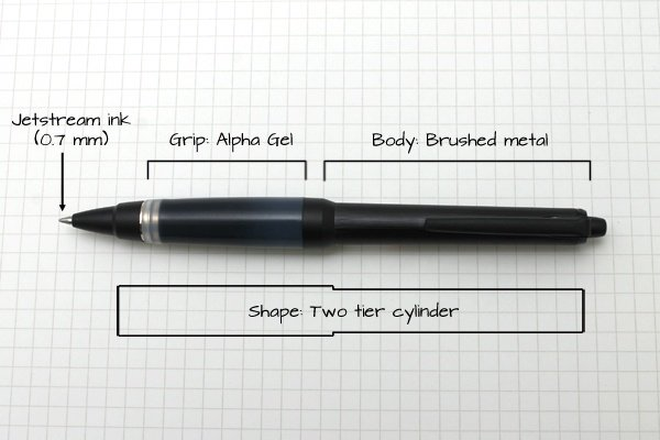 A pleasing all-round choice, the uni-ball AlphaGel Jetstream is the most  popular of pens, with an easy to hold grip and solid feel.
