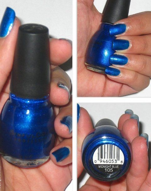 How to make midnight blue gel polish colour - Quora