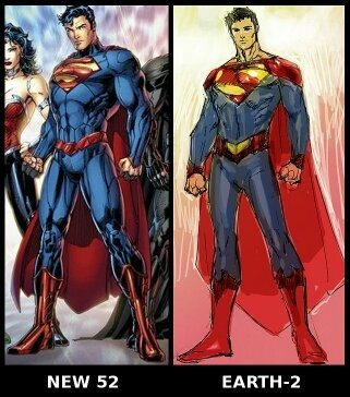 On the right is the Superman of the New 52 Earth-2. The broader red belt evokes the trunks while eliminating them.  sc 1 st  Quora & What costume redesigns of DCu0027s New 52 did you hate and why? - Quora