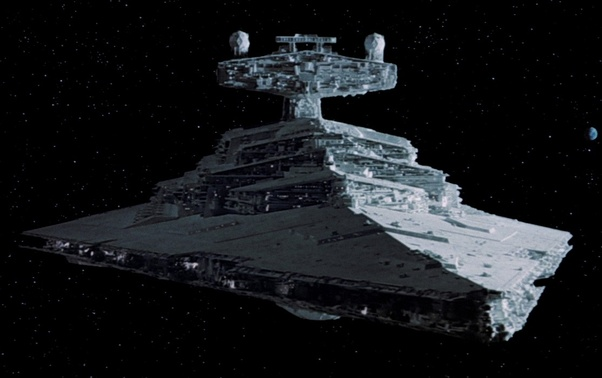In the space navies of Star Wars, why is the focus on large