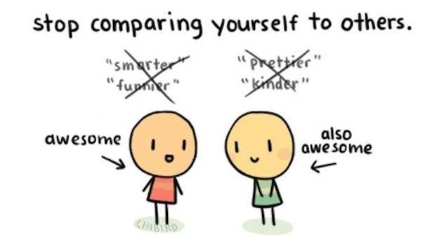 Image result for stop comparing
