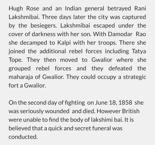 What is the contribution of Jhansi Ki Rani in the freedom struggle ...