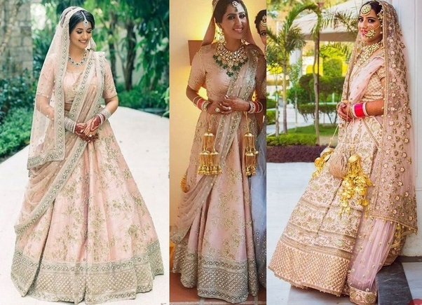 cb0f2293de4 Which is the best color for lehenga in wedding  - Quora