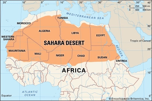 How many countries does the Sahara Desert touch? - Quora