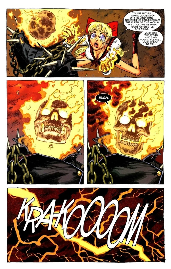 Who would win, Ghost Rider (Ghost Rider Spirit of Vengance movie) or