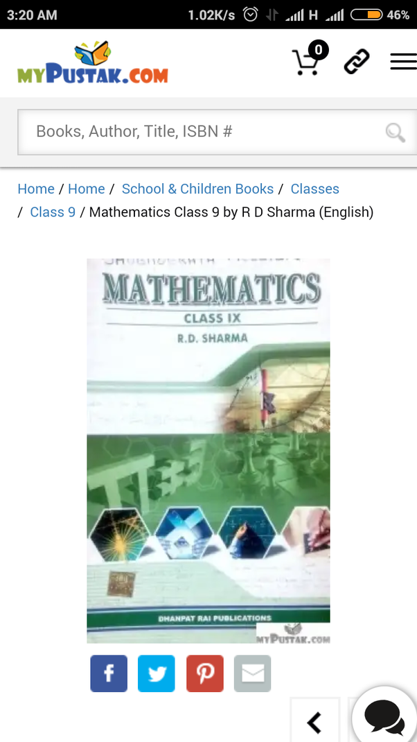 How to download in pdf form the rd sharma maths book for class 9 being vast in concept the books is difficult to read out in pdf version instead you can even get the book online at free of cost easily at mypustak fandeluxe Images