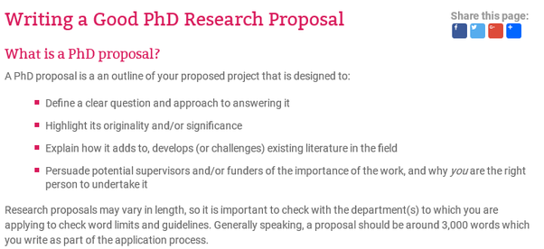 How to write a good phd proposal