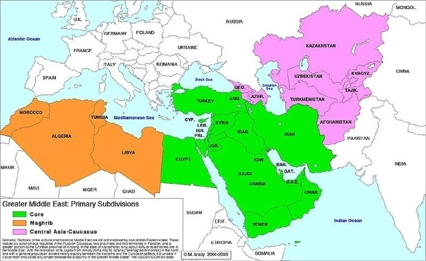 Middle East Map.Is Libya Part Of The Middle East Quora