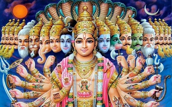 "Image result for image of shree krishna maha virat swroop"""