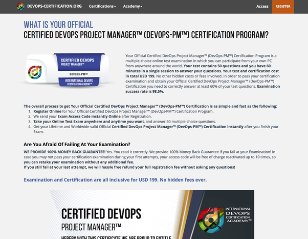 Is there any certification for DevOps? If yes,which