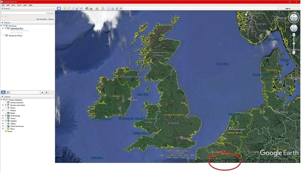 How to know the last time Google Earth data was updated - Quora D Satellite Maps Google Earth on