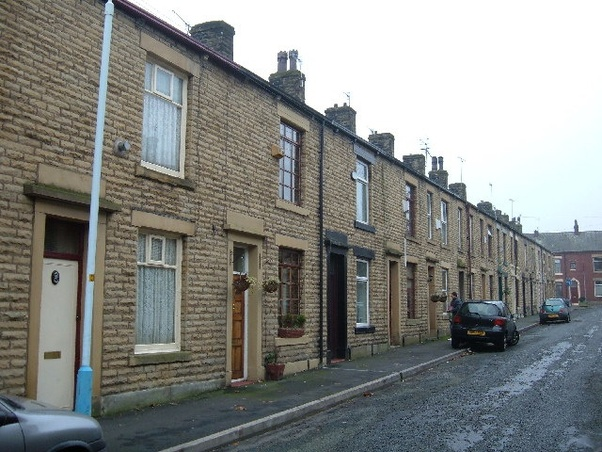 Above: Traditional Terraced Housing Of The Working Classes (via Quora)