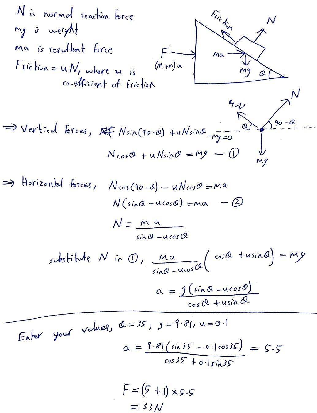 How To Solve This System Of Bodies Problem Quora Drawing The Frictional Force On A Free Body Diagram Draw Block Showing All Vertical And Horizontal Forces Should Be Balanced While Resultant