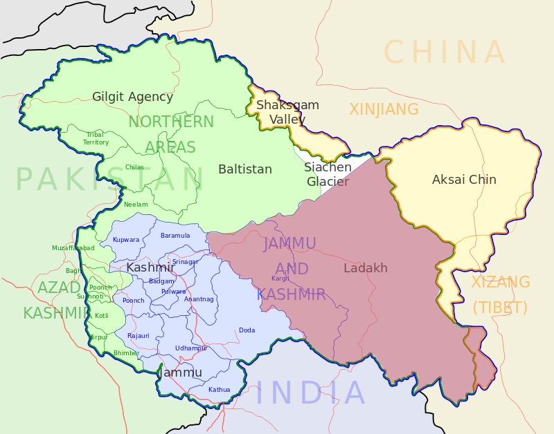 Jammu And Kashmir Political Map What is the correct map of Jammu & Kashmir of India?   Quora