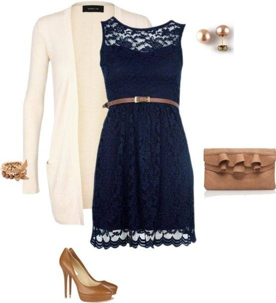 Source Navy Blue Lace Dress