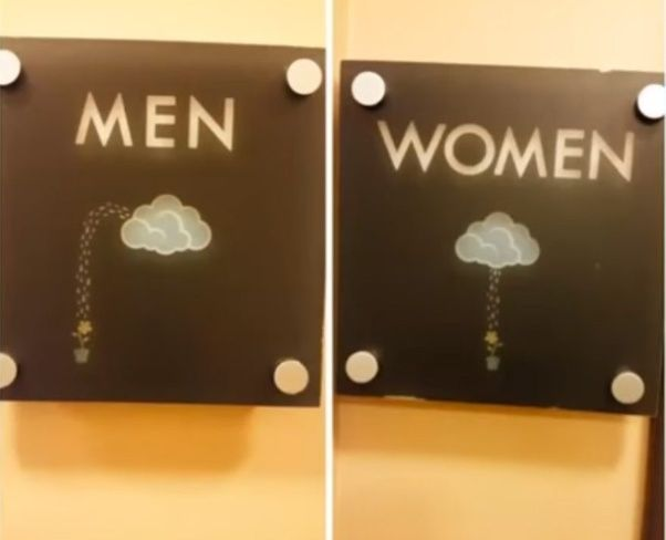 What Are Some Funny/creative Restroom Door Signs?   Quora