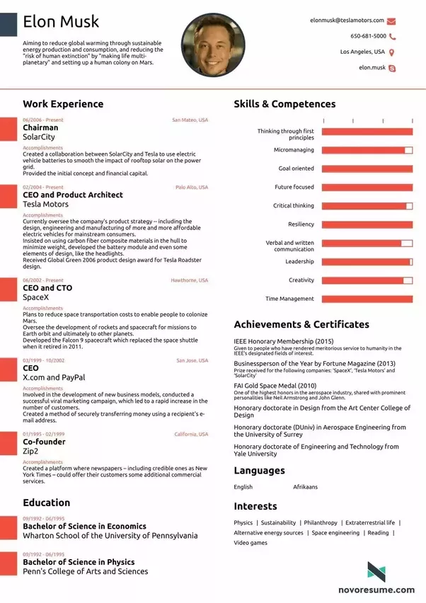 Whats The Best Looking Cv Youve Ever Seen Quora