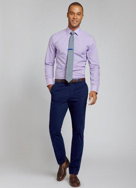 710ee8f2 You can also mix your trouser with beige color shirt, baby pink shirt, blue  checkered shirt, light green checkered shirt, and some dark color tie or  blue ...