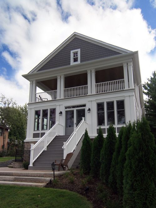 Here's an enclosed front porch and a second floor balcony. Often enclosed  front porches were once open front porches. They are still porches when  enclosed ...