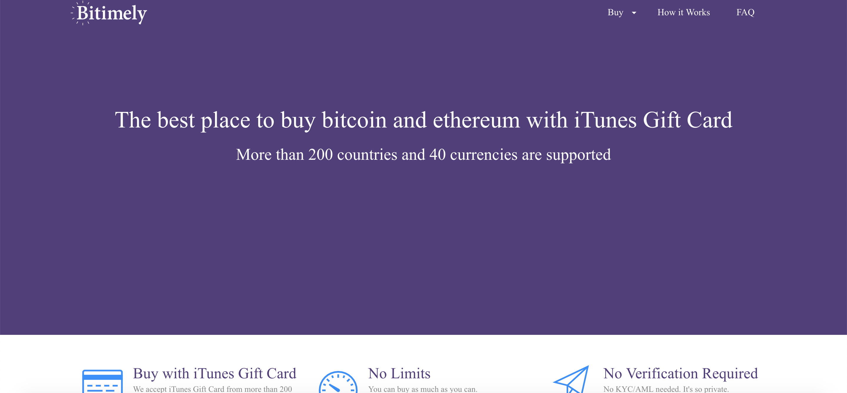 NO MATTER where you come from, you always can buy bitcoin and other popular coins with iTunes Gift Card.