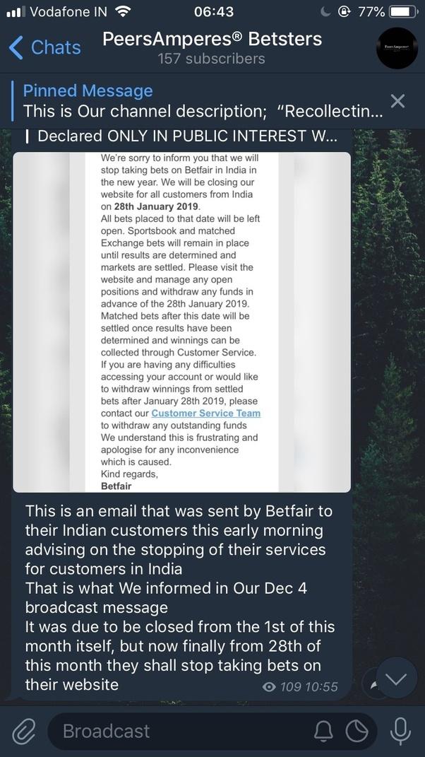 When will the Betfair website open in India? - Quora