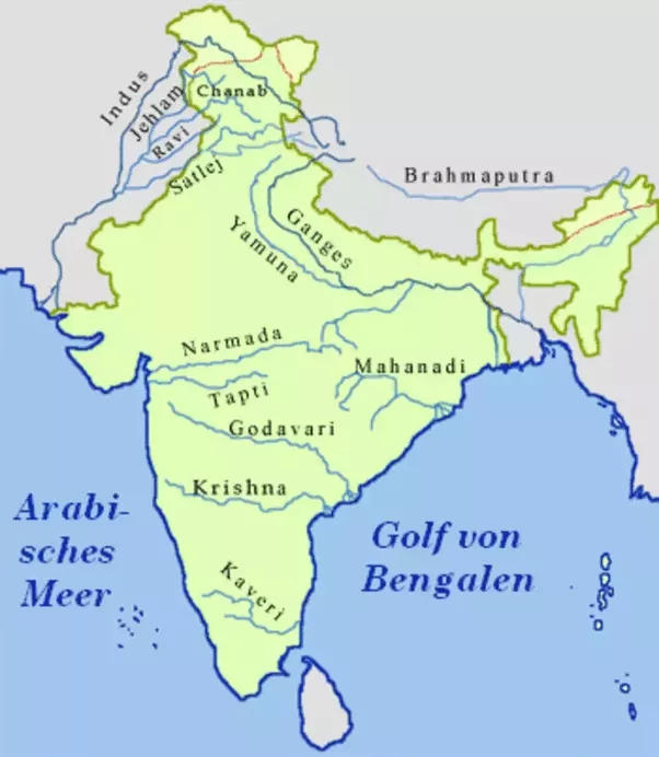Why Are Large Peninsular Indian Cities Except Those Along The Sea - 5 largest rivers