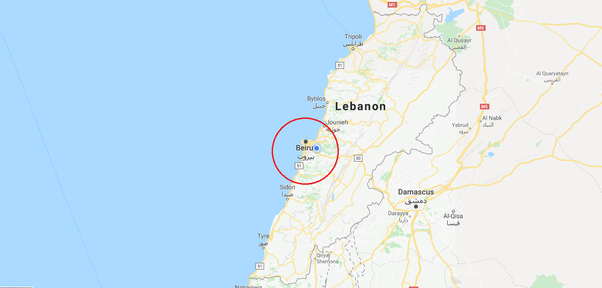 Where is Beirut Lebanon locates at on a map of the world Quora