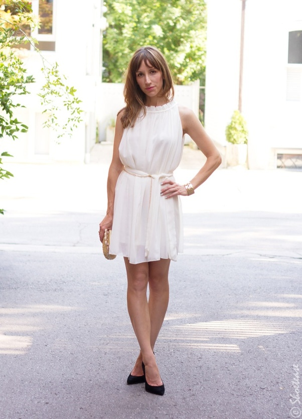 deec72d3cd03 What shoe color goes best with a white dress  - Quora